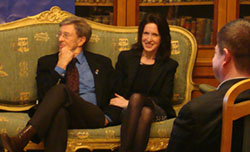 Stephen F. Cohen and his wife Katrina vanden Heuvel