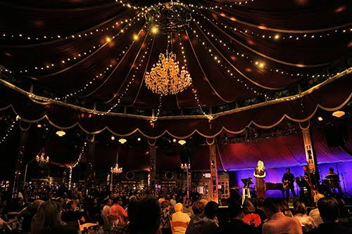 The Spiegeltent at the Bard Festival