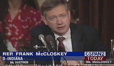 U.S. Rep. Frank McCloskey